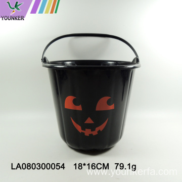 Wholesale plastic Halloween candy pumpkin barrel