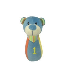Baby Blue Rattle Bear Toy