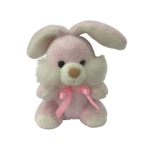 Pink Plush Bunny With Ribbon