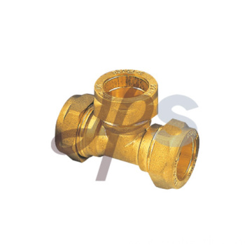 Brass compression tee fittings