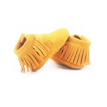 Yellow Baby Soft Sole Kids Moccasin