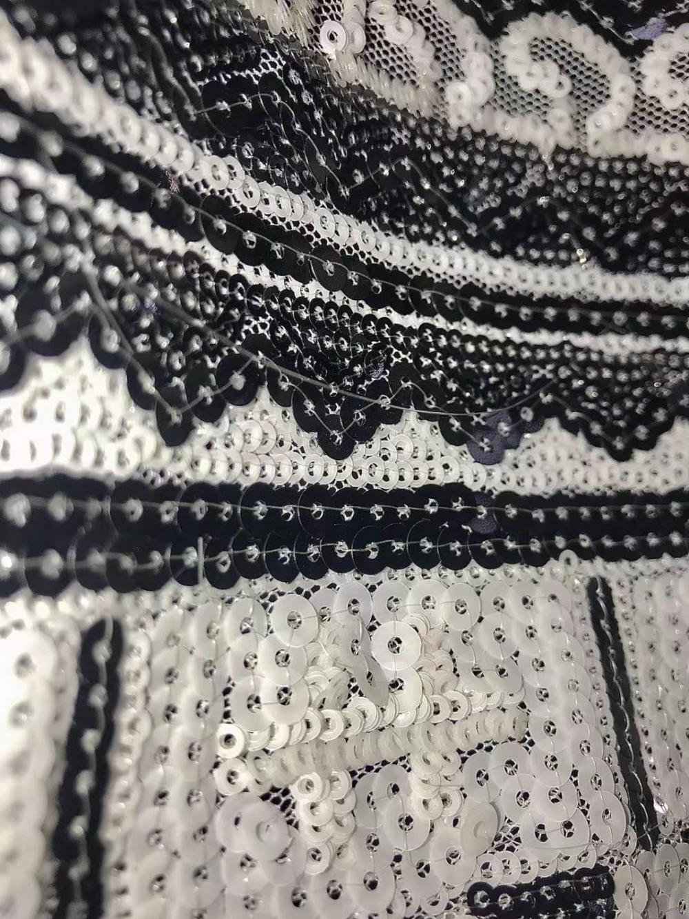 full sequin mesh tulle design embroidery fabric