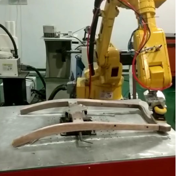 Wood table chair grinding active contact flange