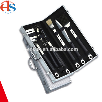Aluminum Case Plastic Handle Grill Barbecue Tool Set
