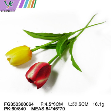 Hot Sale  Plastic Faux Tulip Flowers Artificial Decoration