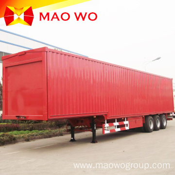 Heavy Duty 60ton Box Cargo Van Semi Trailer