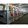 Natural gas mesh belt type glass annealing furnace