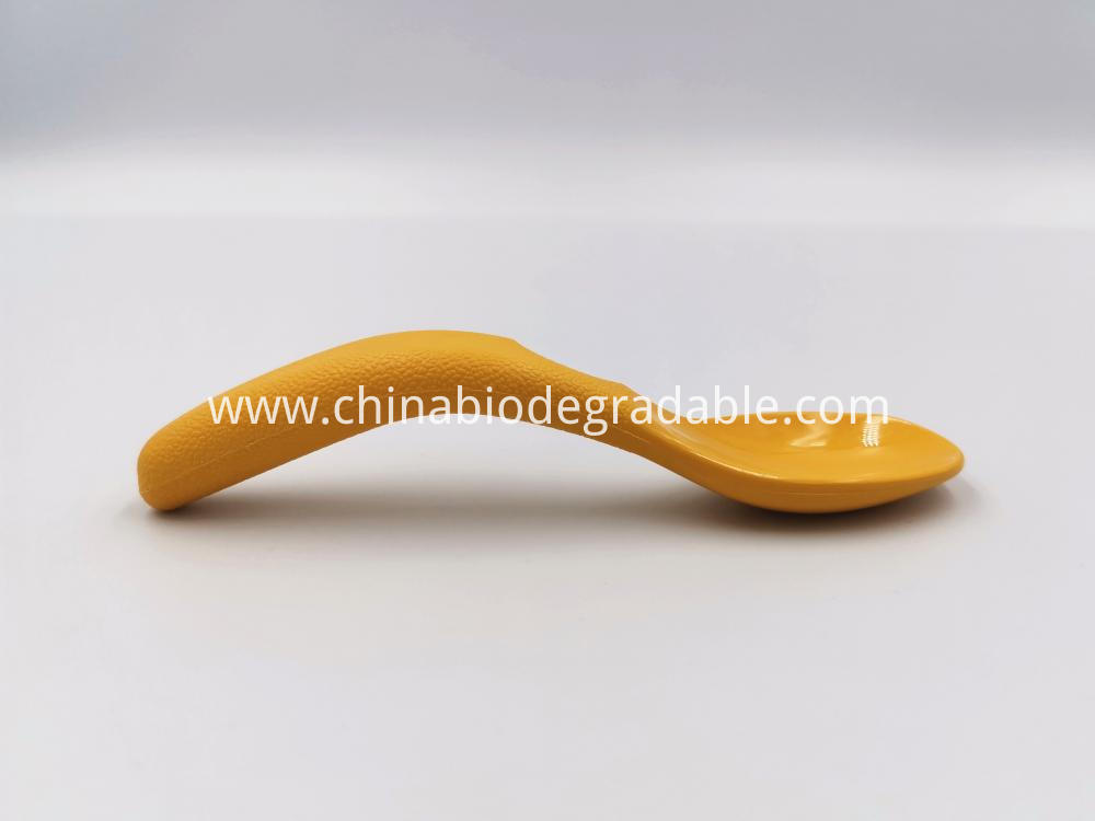 Compostable Frosted Handles Training Spoon