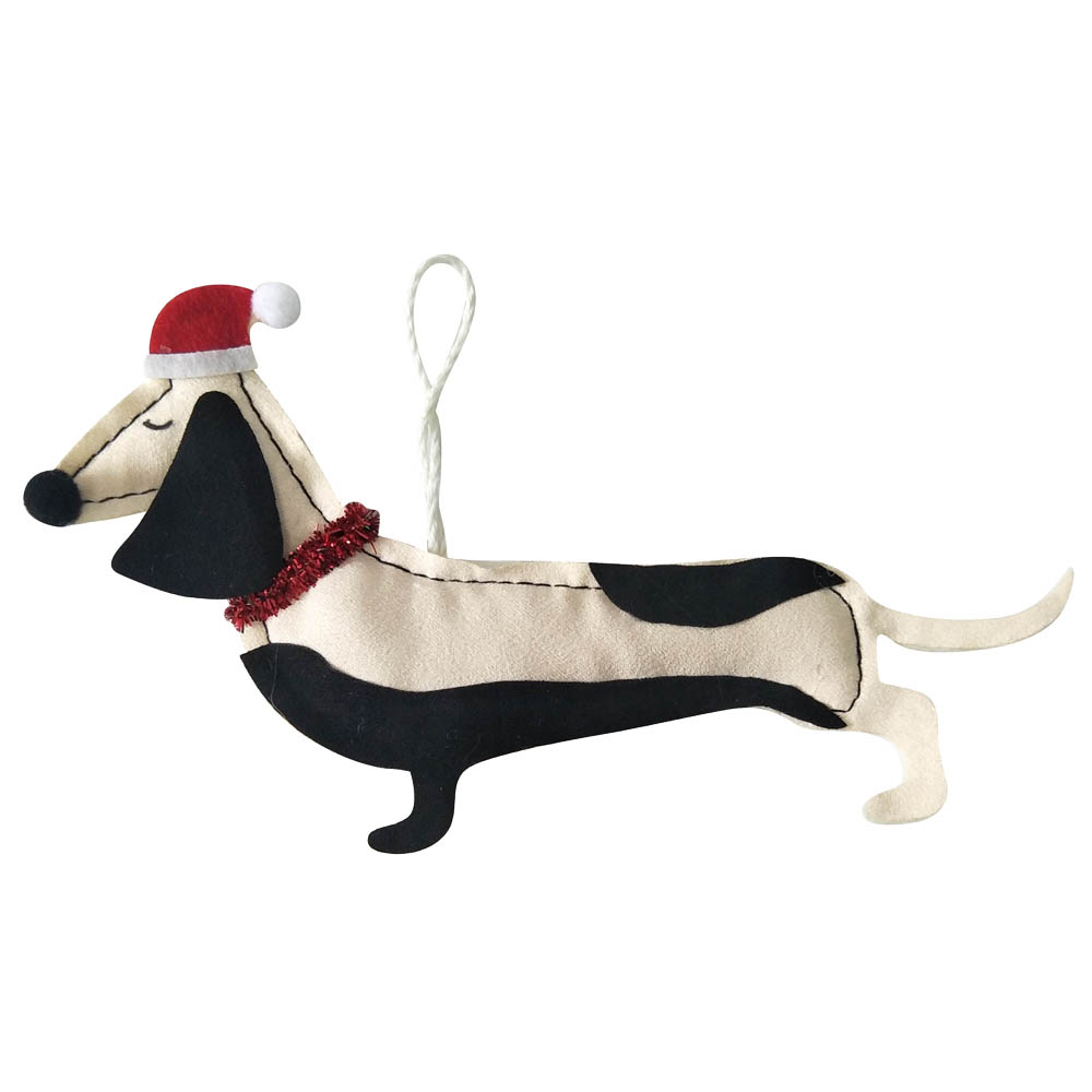 Christmas Ornament With 3d Dog Shape