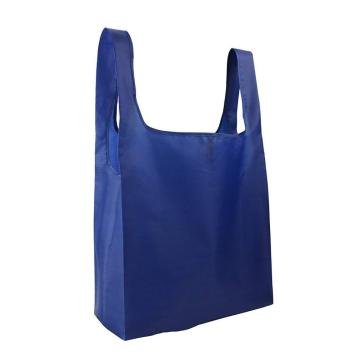 Washable Shopping Gift Bag Folded into Attached Pouch