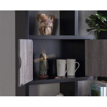 modern space saving pine wood bookcase