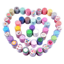 100Pcs Cupcake Printing Muffin Cases Paper Cups Cake Cupcake Liner Baking Mold Paper Cake Party Tray Cake Decorating Tool