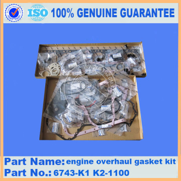Engine overhaul gasket kit 6743-K1 K2-1100 PC300-7 for engine parts