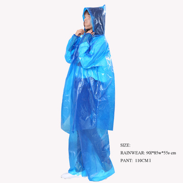 Wholesale Safety Disposable Plasty Body Coverall Rain Clothing
