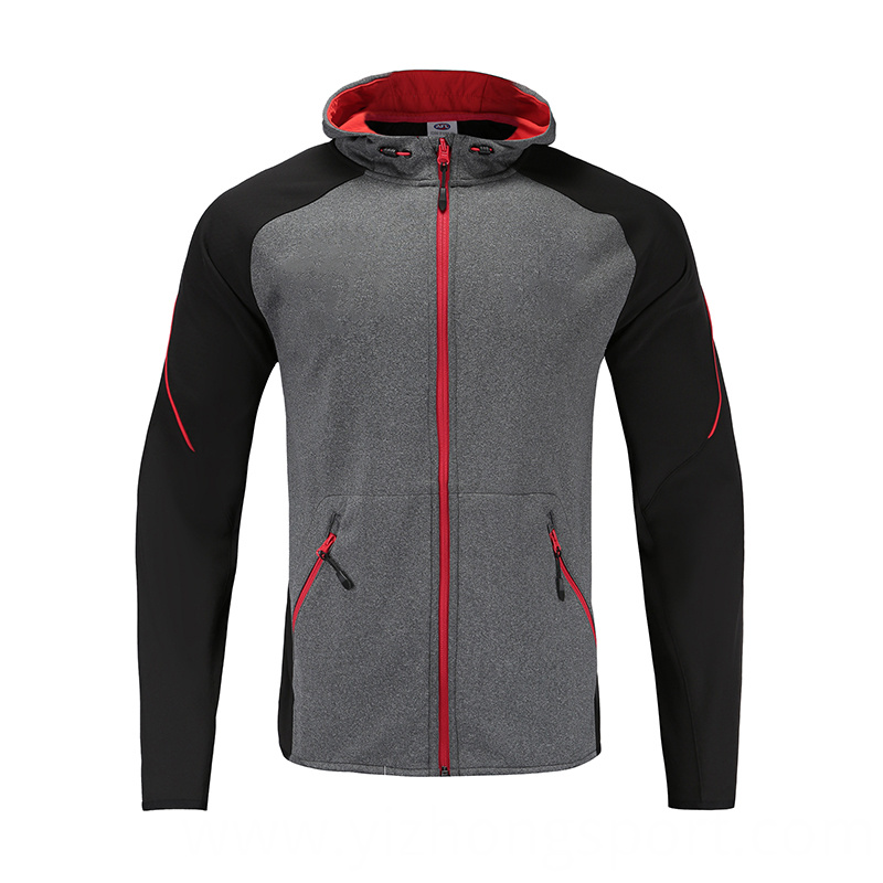 Soccer Wear Zip Up Hoodies
