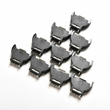 10pcs CR2032 Half-Round lithium Button Cell Coin Battery box Holder Case CR 2032 batteries holder Socket 3 PIN