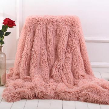 Soft Warm Fleece Flannel Blankets For Beds Faux Fur Mink Throw Solid Color Sofa Cover Bedspread Winter Blankets