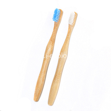 This is a comfortable bamboo toothbrush