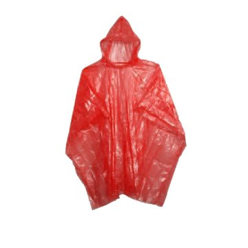 Disposable emergency Rain Ponchos free size