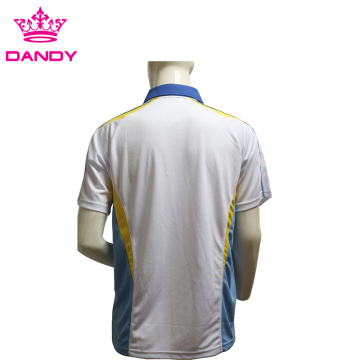 Custom Embroidery Logo Mens White Polo