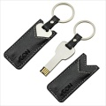 Key USB Flash Drive With Leather Pouch