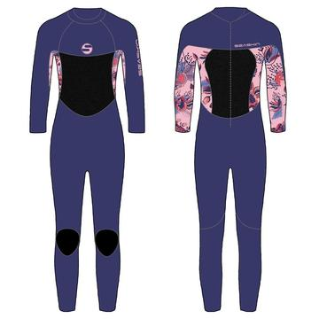 Seaskin Girls Back Zip Surfing Full Suit