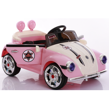 Pink children's toy electric car