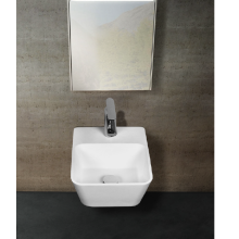 Stone resin Irregular wall-hung washbasin