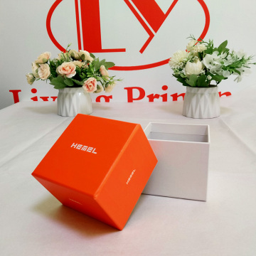 Custom Logo Pillow Insert Orange Boxes for Watch