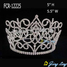 5 Inch Full Round Beauty Crowns For Girl