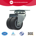 2 Inch Plate Swivel TPR Material small twin Caster