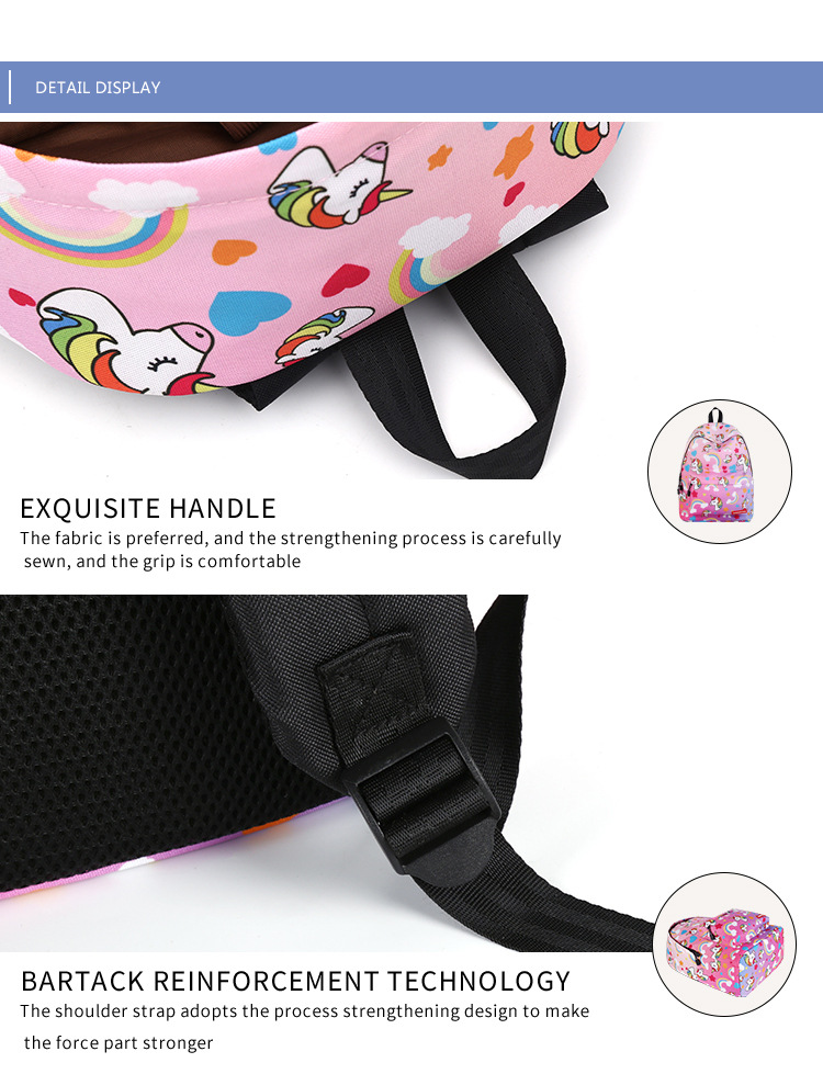 Primary and secondary school unicorn girls backpack 2019 (7)