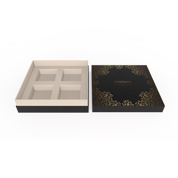 Black Wholesale Cardboard Moon Cake Box