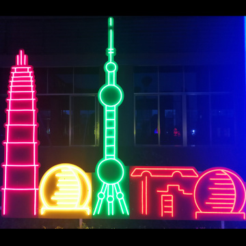 FAMOUS CITY BUILDING NEON SIGN