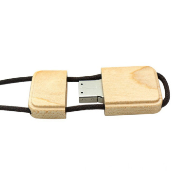 Wooden USB Stick With Lanyard