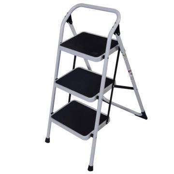 1PC Non-slip 3-Step Short Handrail Iron Ladder Folding Platform Stepladder For Housework Home Use Furniture