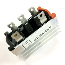 New SQL 50A/1000V Three-Phase Bridge Rectifier With Thick Aluminum Alloy Heat Brushless Fits For Small Generators With Heatsink