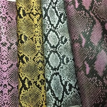 Snake Pattern Python Eco-friendly Leather for Shoe Making