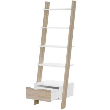 Amazon Hot Selling Modern Corner Ladder Bookshelf