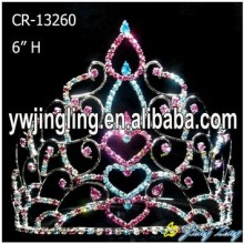 "6"" Heart Shape Valentine Day Crown For Love"