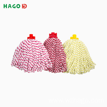 Mixed Color Microfiber Sewing Strip Mop Head Wholesaler