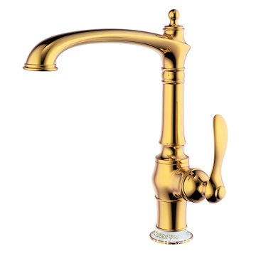 Quality hot and cold brass kitchen sink faucet