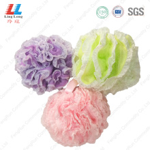 Lace flower mesh sponge bath ball