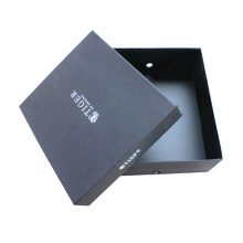 Black Cardboard Shoes Packing Paper Box
