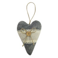 Christmas heart ornaments with winter woodland style