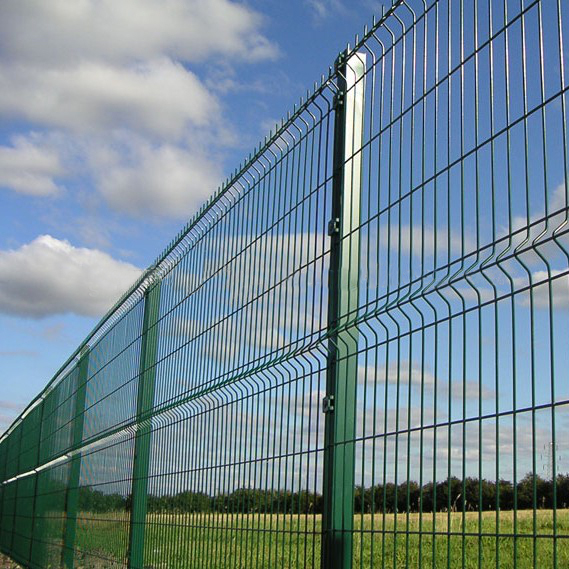 Garden Curved PVC Coated Welded Fence 3D Fence