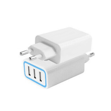 3 ports usb phone charger EU Wall Charger