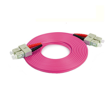 SC LC/PC OM4 Duplex Optic Fiber Patch Cord