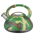 3.0L Camouflage water whistling kettle for outdoor camping