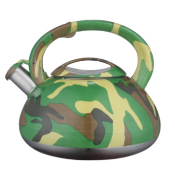 High quality stainless steel whistling camouflage kettle